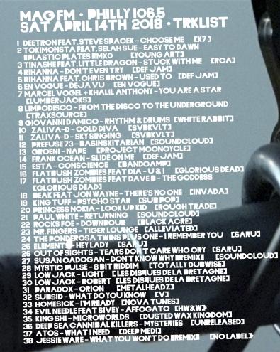 track list apr 14