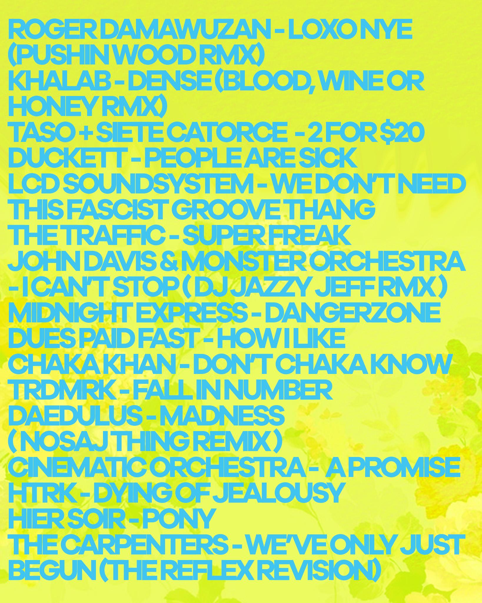 tracklist 2
